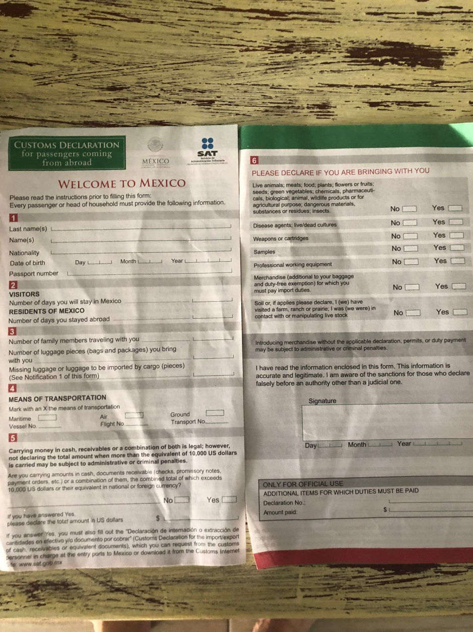 Customs form